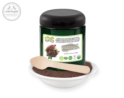 Cocoa Artisan Handcrafted Triple Detoxifying Clay Cleansing Facial Mask