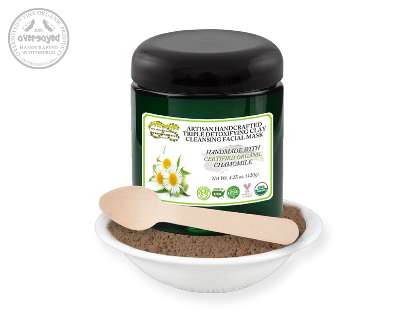 Chamomile Artisan Handcrafted Triple Detoxifying Clay Cleansing Facial Mask