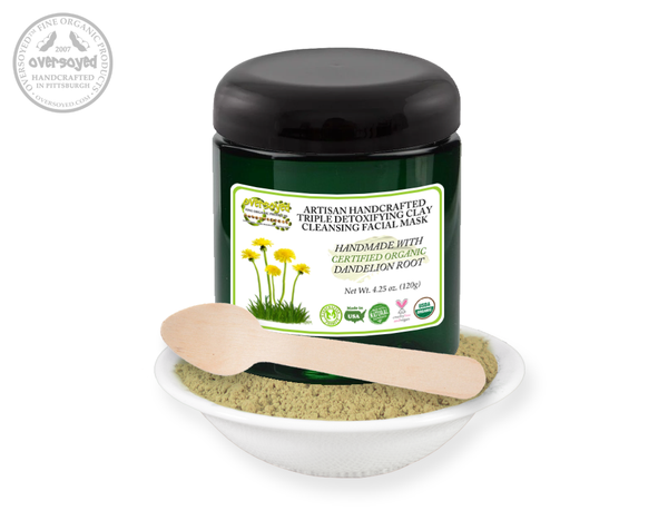 Dandelion Root Artisan Handcrafted Triple Detoxifying Clay Cleansing Facial Mask