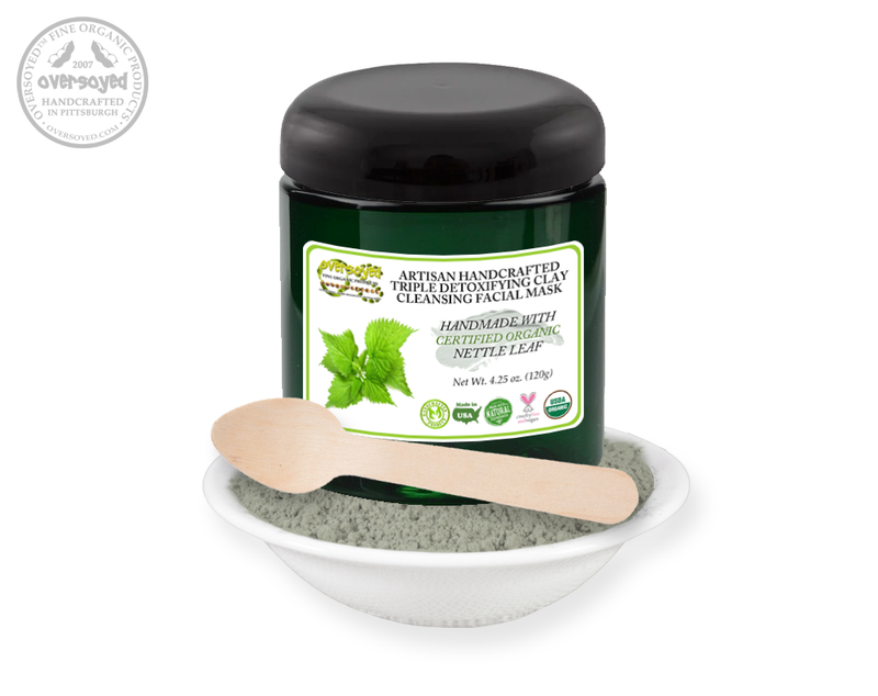 Nettle Leaf Artisan Handcrafted Triple Detoxifying Clay Cleansing Facial Mask