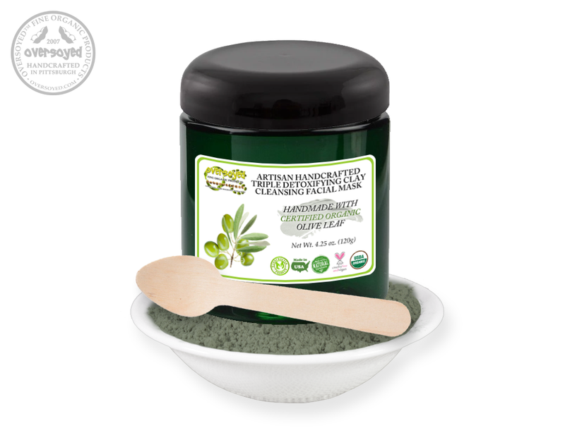 Olive Leaf Artisan Handcrafted Triple Detoxifying Clay Cleansing Facial Mask