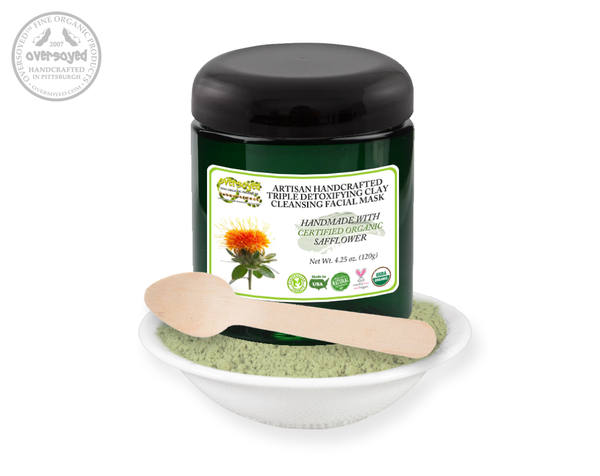 Safflower Artisan Handcrafted Triple Detoxifying Clay Cleansing Facial Mask