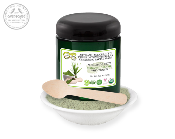 Wheatgrass Artisan Handcrafted Triple Detoxifying Clay Cleansing Facial Mask