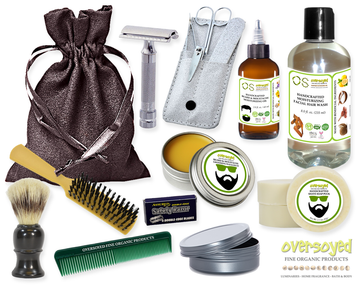 Midnight Jasmine (Compare To Yankee Candle®) Deluxe Men's Beard & Mustache Grooming Kit