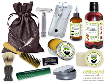 Alluring Apple (Compare To Bath & Body Works®) Deluxe Men's Beard & Mustache Grooming Kit