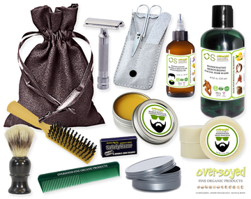 Absinthe (Compare To The Body Shop®) Deluxe Men's Beard & Mustache Grooming Kit