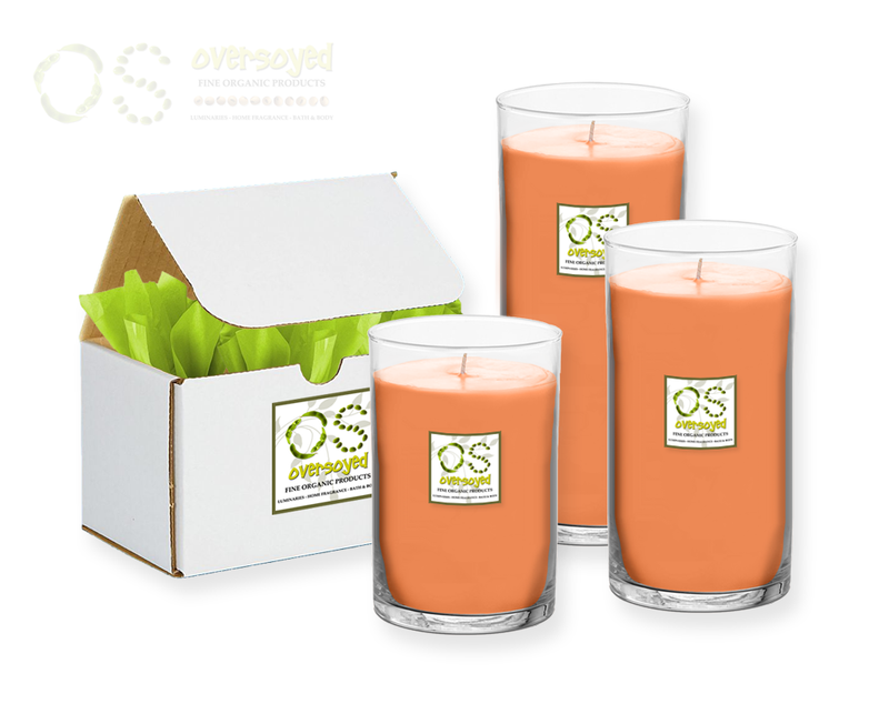 Peach Zinfandel Hand Poured Soy Pillar Candles