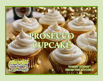 Prosecco Cupcake Hand Poured Soy Pillar Candles