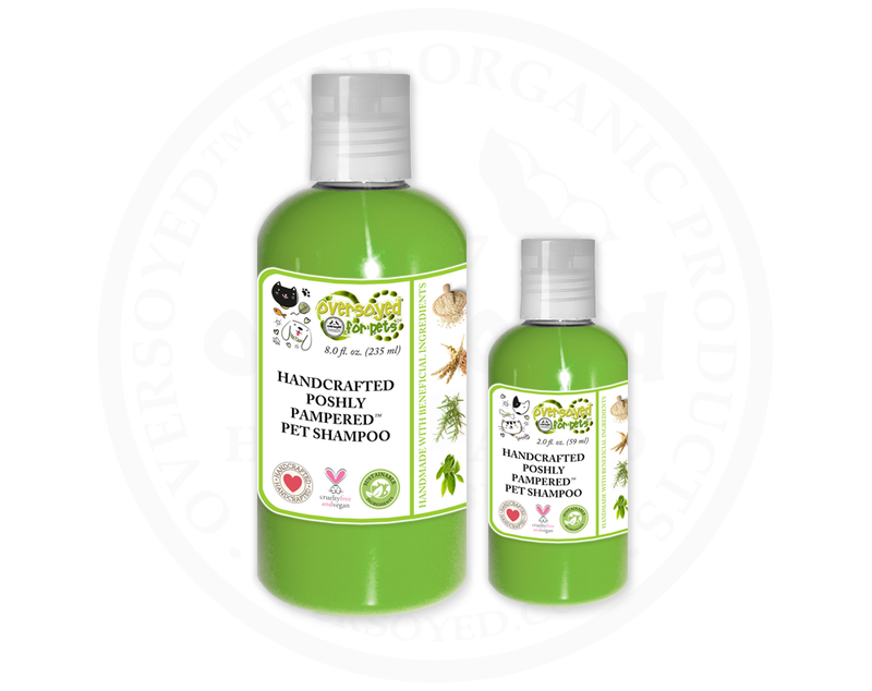 Apple Mint Poshly Pampered™ Handcrafted Natural Pet Shampoo