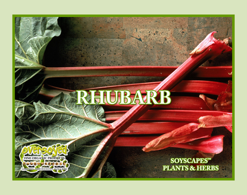 Rhubarb Hand Poured Soy Pillar Candles