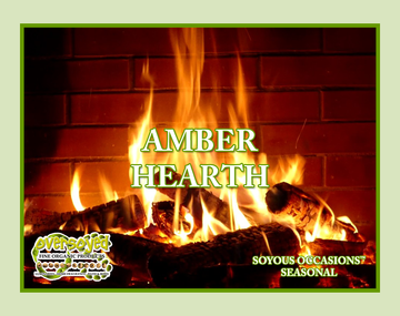 Amber Hearth Hand Poured Soy Pillar Candles