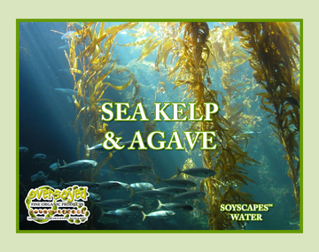 Sea Kelp & Agave Hand Poured Soy Pillar Candles