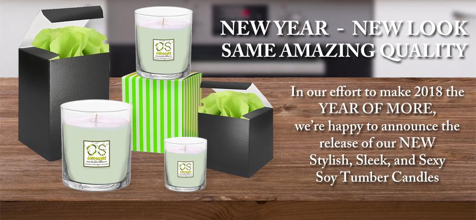 New OverSoyed Hand Poured Soy Tumbler Candles