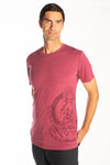 Buddha on the side of Men's T-Shirt - Third Eye Threads
