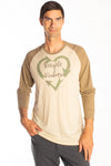 Recycled Kindness on Men's L/S Raglan - Third Eye Threads