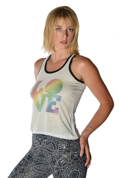 All You Need Is Love on Tank Top - Third Eye Threads