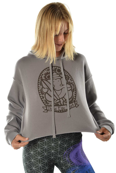 Crop Top Hoodie with Third Eye Surf - Third Eye Threads