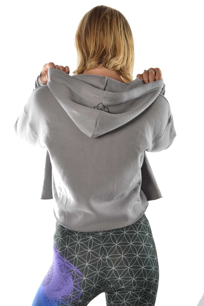 Surfer Girl on the Lip on Crop Top Hoodie - Third Eye Threads