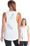 Dragonfly boyfriend tank - Third Eye Threads