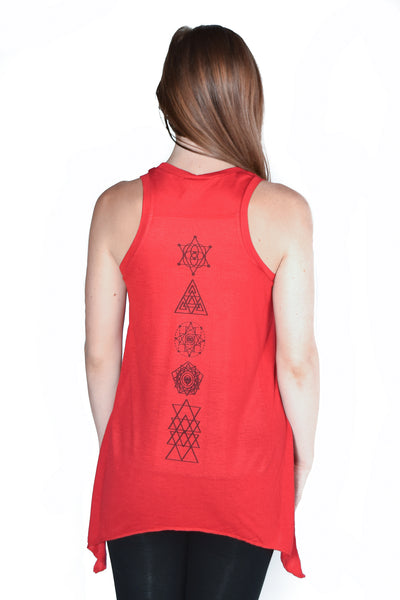 Sacred Geometry on shark Bite Tank - Third Eye Threads