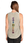 Full Chakra Back with Enlarged Heart Chakra Boyfriend Tee - Third Eye Threads