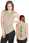 Full Chakra Back with Enlarged Heart Chakra Boyfriend Tee