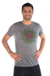 Heart Chakra ON LINEN BLEND CREW NECK