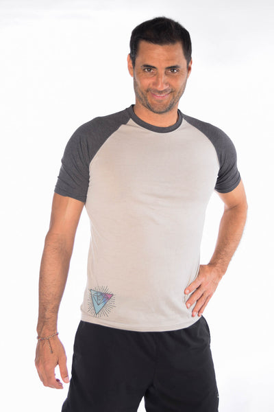 Full Chakra Back Short Sleeve Raglan
