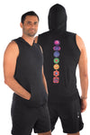 Full Chakra Tri Blend Sleeveless Hoodie
