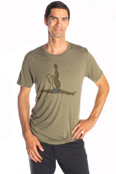 Hanuman Hanumanasana on Triblend Tee - Third Eye Threads