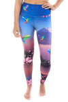 Cherry Blossoms,  Humming Bird  and Mountain High Compression Leggings - Third Eye Threads