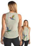 The Hummingbird  Linen Blend Boyfriend Tee - Third Eye Threads