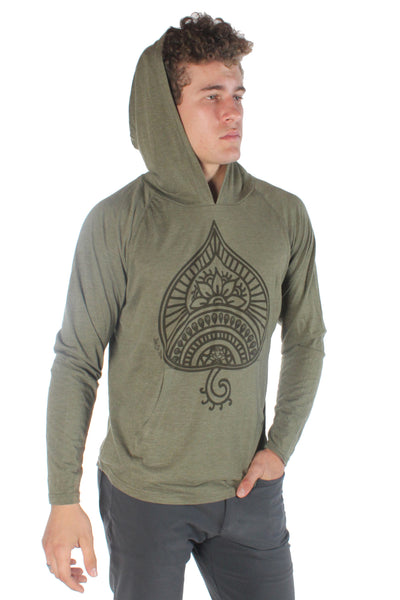 Auspicious Spade On Pull over Hoodie - Third Eye Threads