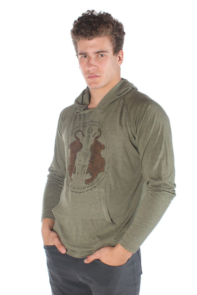Thai Tiger Pull over Hoodie - Third Eye Threads