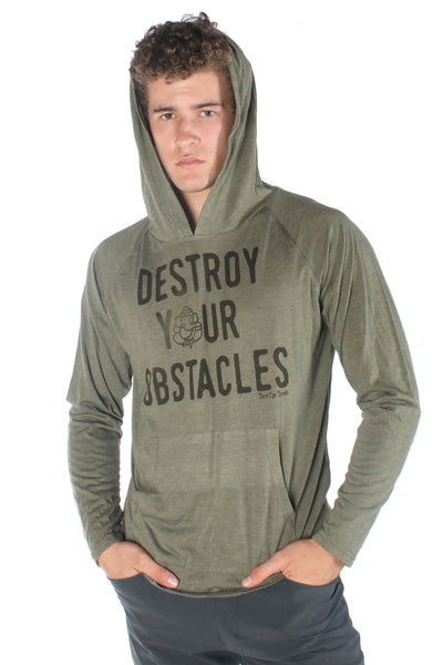 Destroy Your Obstacles On Pull over Hoodie - Third Eye Threads