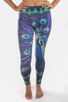 Eco-Light Peacock Feather Recycled Water Bottle Pant - Third Eye Threads