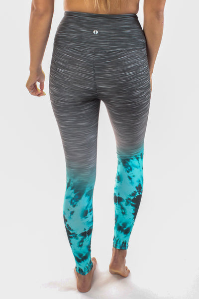 Ocean Striated High Compression Tie Dye Legging - Third Eye Threads