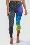 Chakra Legging With Sacred Geometry (Flower of Life) - Third Eye Threads