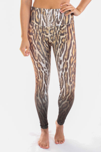 Ocelot (Leopard) Print High Compression Legging - Third Eye Threads