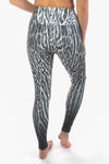 Black and White Ocelot (Leopard) Print High Compression Legging - Third Eye Threads