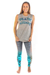 Pilates Mermaid Linen Blend Boyfriend Tee - Third Eye Threads