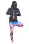 Burnout Hoodie with Full Chakra Back - Third Eye Threads
