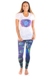 Third Eye Chakra on front w/ Full Chakra Back on Boat Neck Burnout Crew - Third Eye Threads