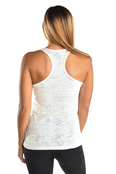 Lakshmi Rocks Me White Racer Back Tank - Third Eye Threads