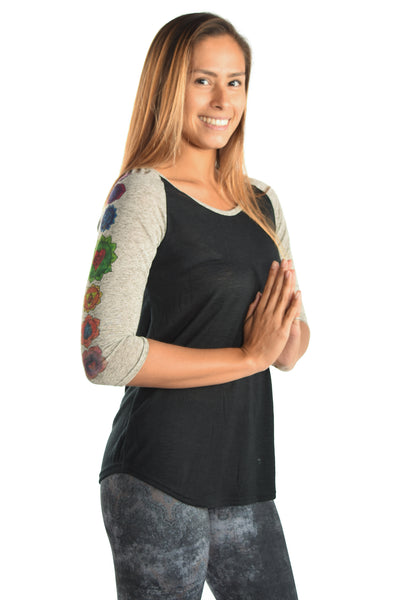 Full Chakra on 3/4 Sleeve Raglan - Third Eye Threads