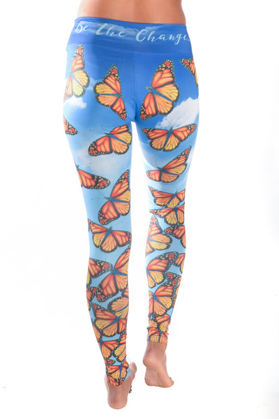 Monarch Butterfly Eco-Light Blue Pant - Third Eye Threads