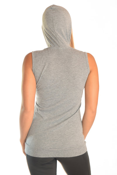 Sleeveless Triblend Hoodie  With Effortless Elegance - Third Eye Threads