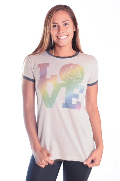 Rainbow Love Ringer Tee - Third Eye Threads