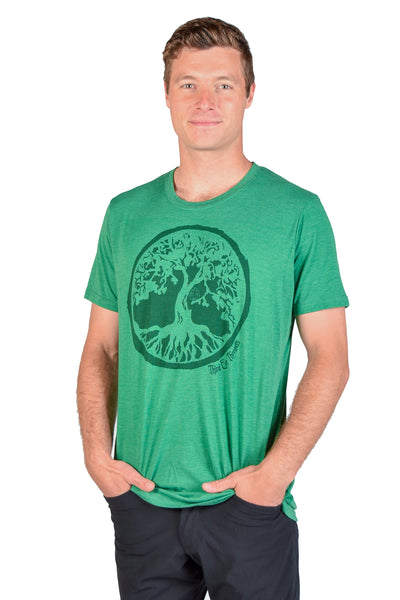 Tree Life Triblend  Crew Neck Tee - Third Eye Threads