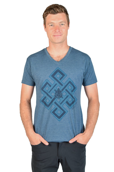 Infinity Knot Triblend V-neck Neck Tee - Third Eye Threads